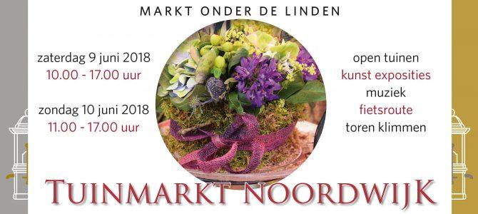 Wij staan op 9 en 10 juni met een gevulde stand op de Markt onder de Linden, Lindenplein in Noordwijk Binnen.