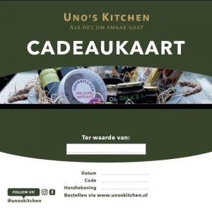 Cadeaukaart €50 50 euro uno's kitchen ketjap samerang katwijk leiden oestgeest